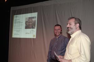 J.l.  Rodríguez junto a Severiano Belmonte, de Albacete Innova. Ambos en modo happy. Foto de Javi Belmonte